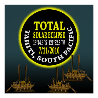 Total Solar Eclipse 7/11/2010 Poster