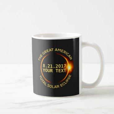 USA Themed Total Solar Eclipse 8.21.2017 USA Add Your State Coffee Mug