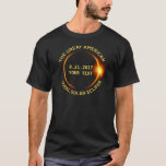 Total Solar Eclipse 8.21.2017 Usa Add Your State T-shirt at Zazzle
