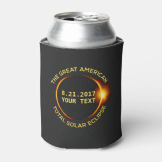 Total Solar Eclipse 8.21.2017 USA Custom Text Can Cooler