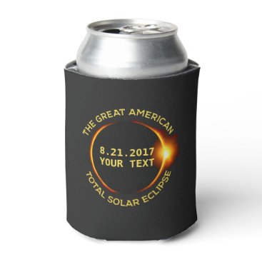USA Themed Total Solar Eclipse 8.21.2017 USA Custom Text Can Cooler
