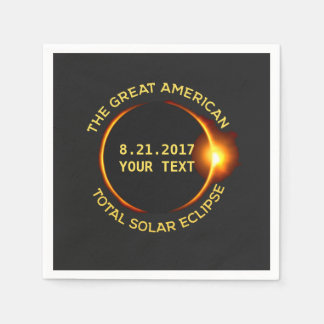 Total Solar Eclipse 8.21.2017 USA Custom Text Napkin