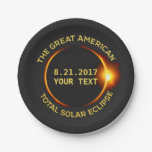Total Solar Eclipse 8.21.2017 Usa Custom Text Paper Plate at Zazzle