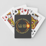 Total Solar Eclipse 8.21.2017 Usa Custom Text Playing Cards at Zazzle