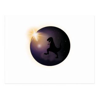 Total Solar Eclipse August2017 Funny dinosaur TRex Postcard