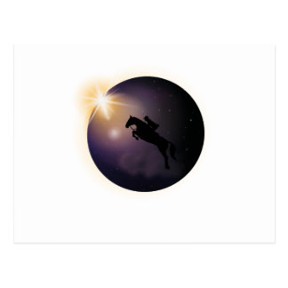 Total Solar Eclipse August 2017  Funny horse Postcard