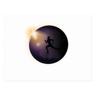 Total Solar Eclipse August 2017  Running Postcard