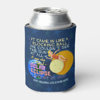 Total Solar Eclipse August 21 2017 American Funny Can Cooler