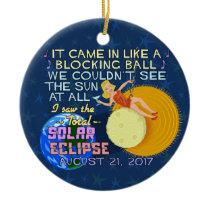 Total Solar Eclipse August 21 2017 American Funny Ceramic Ornament
