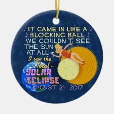 Total Solar Eclipse August 21 2017 American Funny Ceramic Ornament at Zazzle