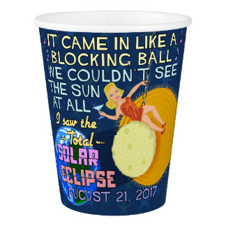 Total Solar Eclipse August 21 2017 American Funny Paper Cup