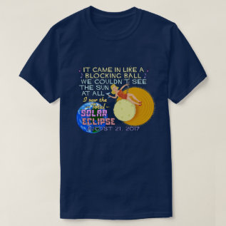 Total Solar Eclipse August 21 2017 American Funny T-shirt at Zazzle