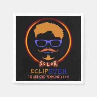 Total Solar Eclipse August 21 2017 Funny Hipster Napkin