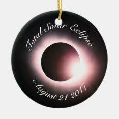 Total Solar Eclipse Ceramic Ornament at Zazzle