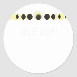 Total Solar Eclipse Cycle Classic Round Sticker