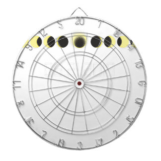 Total Solar Eclipse Cycle Dartboard With Darts