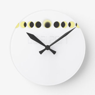 Total Solar Eclipse Cycle Round Clock