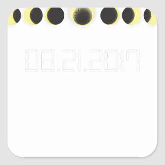 Total Solar Eclipse Cycle Square Sticker