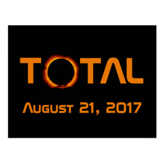 Total Solar Eclipse Event Postcard