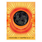 Total Solar Eclipse Fractal Art Postcard