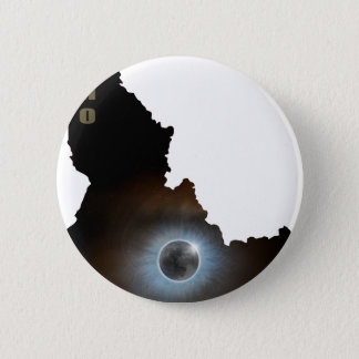 Total Solar Eclipse in Idaho Map Outline Pinback Button