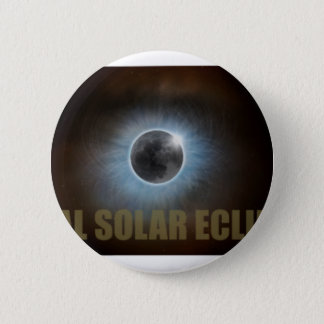 Total Solar Eclipse in Tennessee Map Outline Pinback Button
