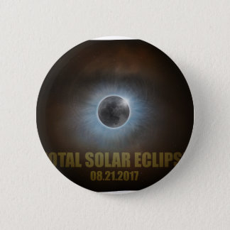 Total Solar Eclipse in Wyoming Map Outline Pinback Button