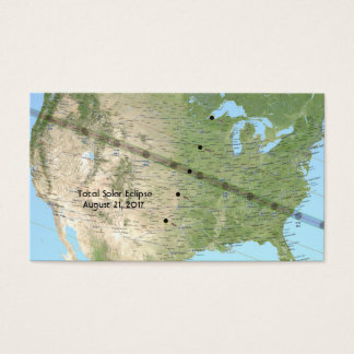 Total Solar Eclipse Path Map 2017 Business Card