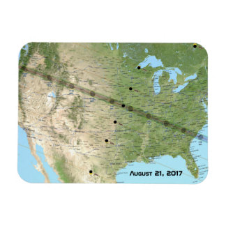 Total Solar Eclipse Path Map 2017 Magnet