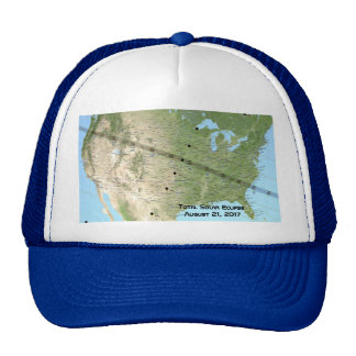 Total Solar Eclipse Path Map 2017 Trucker Hat