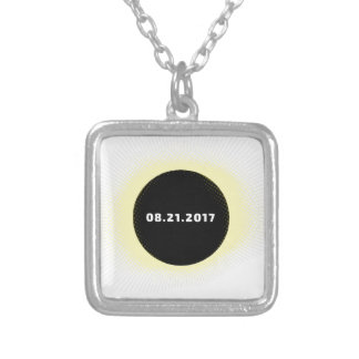 Total Solar Eclipse Silver Plated Necklace