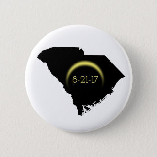 Total Solar Eclipse South Carolina Silhouette 2017 Button