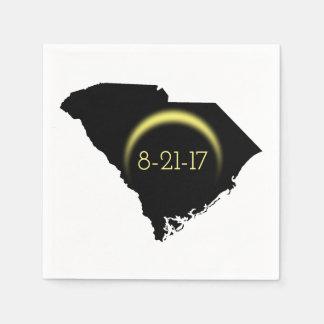 Total Solar Eclipse South Carolina Silhouette 2017 Napkin