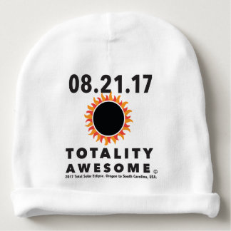 """Total Solar Eclipse """"Totality Awesome"""" baby cap Baby Beanie"""