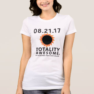"""Total Solar Eclipse """"Totality Awesome"""" tee shirt."""