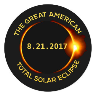 Total Solar Eclipse Viewing Party 8.21.2017 USA Card