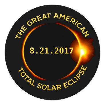 USA Themed Total Solar Eclipse Viewing Party 8.21.2017 USA Card