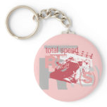 Total Speed Racing Tshirts and Gifts Keychain