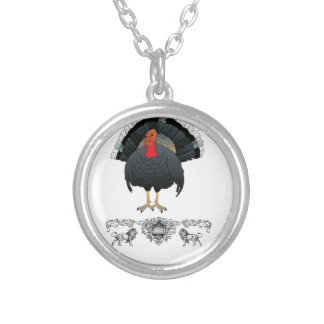 total turkey silver plated necklace