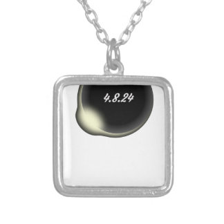 Totality Eclipse Silver Plated Necklace