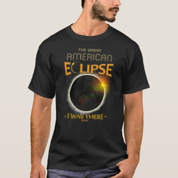 USA Themed Totality Solar Eclipse I Was There History T-Shirt