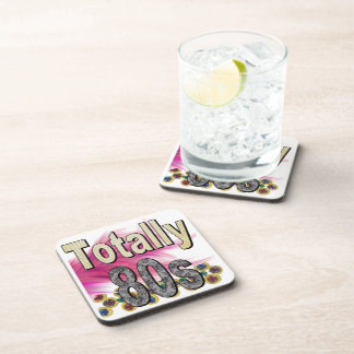 Totally 80s beverage coaster
