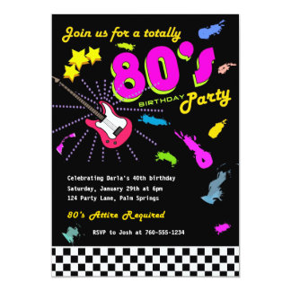 Totally 80's Birthday Party Invitations