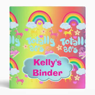 Totally 80's custom slogan binder. binder