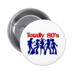 Totally 80s disco 2 inch round button
