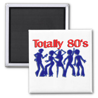 Totally 80s disco 2 inch square magnet