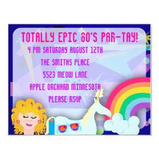 Totally 80s Epic Party Time Card