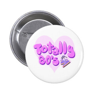 Totally 80s Heart Buttons