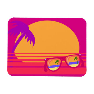 Totally 80's Neon Sunset Flexible Magnets