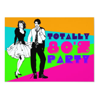 Totally 80's Party Card